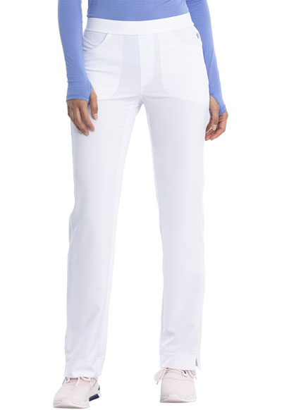 Infinity Women's Low Rise Slim Pull-On Pant White