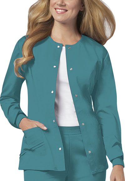 Luxe Women Snap Front Jacket Green