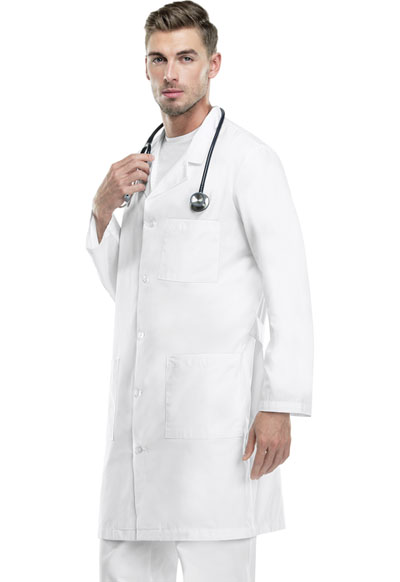 "Med-Man Cherokee Whites Men's 40"" Men's Lab Coat White"