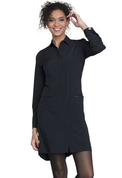 Infinity Women 40 Lab Coat Black