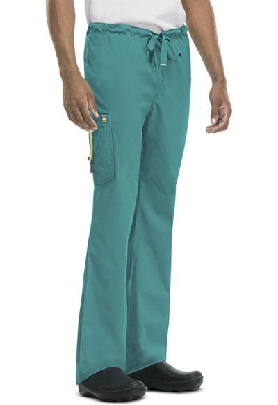 Code Happy Bliss Men's Men's Drawstring Cargo Pant Green