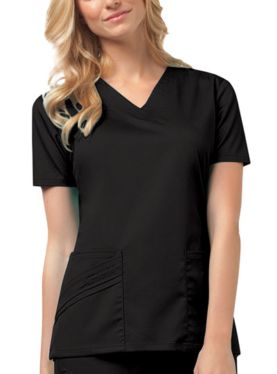 Luxe Women V-Neck Top Black