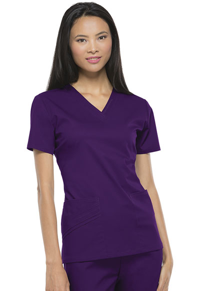 de82cfb64b2 Luxe V-Neck Top in Eggplant 1845-EGGV from 123 Scrubs presented by ...
