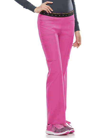 Break on Through by HeartSoul Women's BFF Mid Rise Elastic Waist Cargo Pant Pink