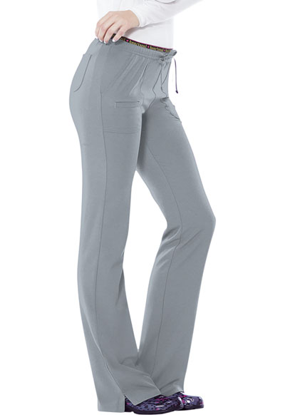 Low Rise Drawstring Pant in Grey