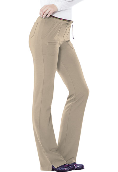 Low Rise Drawstring Pant in Dark Khaki