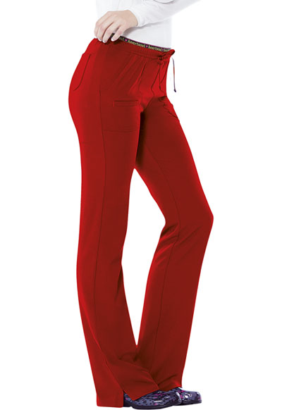 Break on Through by HeartSoul Women's Heart Breaker Low Rise Drawstring Pant Red