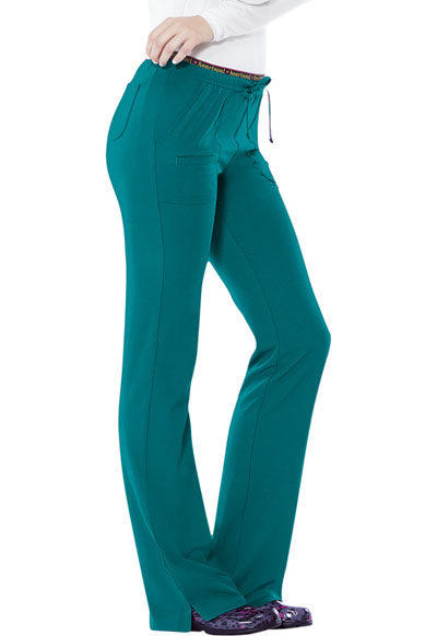 HeartSoul Break on Through Women's Heart Breaker Low Rise Drawstring Pant Blue
