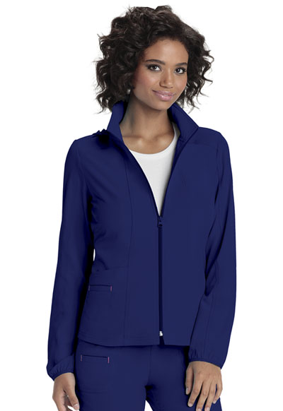 Zip Front Warm-Up Jacket in Galaxy Blue