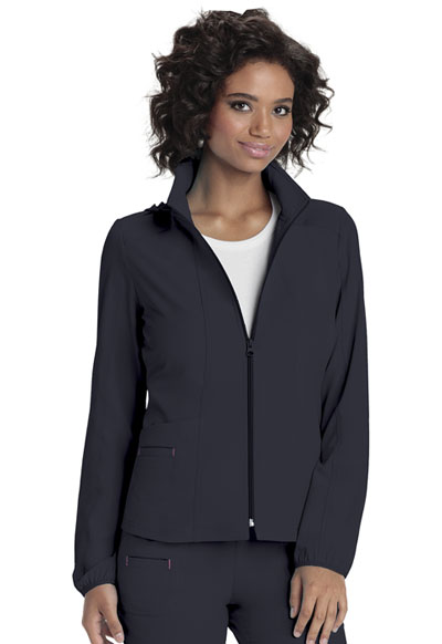 Break on Through Women's Zip Front Warm-Up Jacket Gray