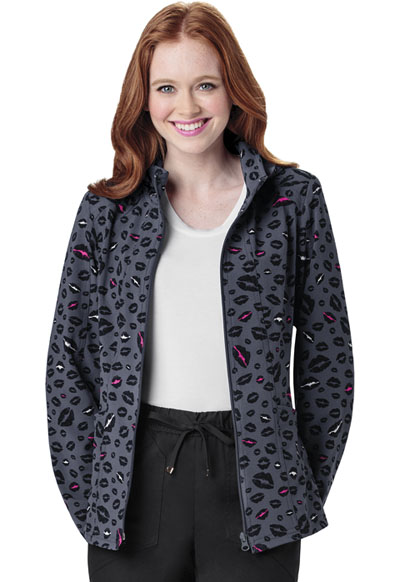 HeartSoul Prints Women's Warm-Up Jacket Let's Talk About Love