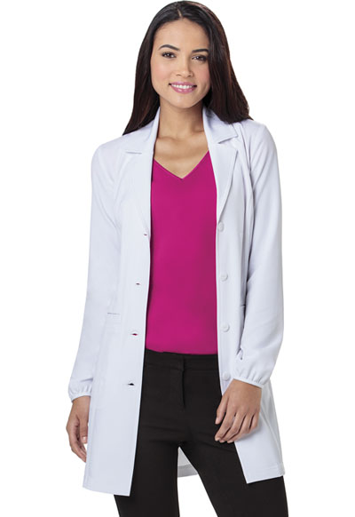 "34"" Lab Coat in White"