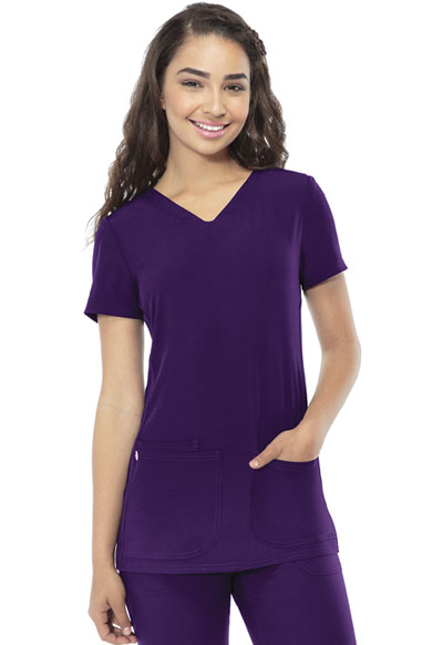 Break on Through Women's Shaped V-Neck Top Purple