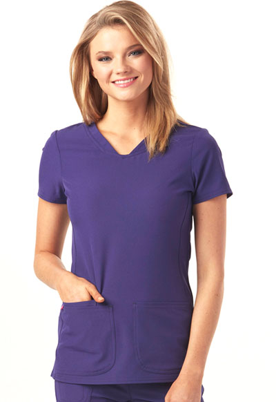 Break on Through Women's Pitter-Pat Shaped V-Neck Top Purple