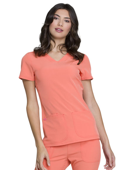 Break on Through Women's Shaped V-Neck Top Orange