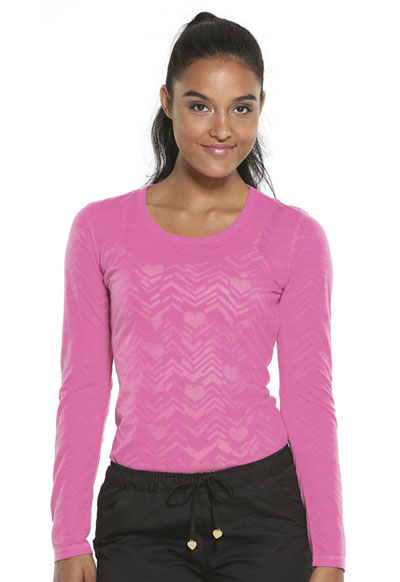 HeartSoul Underscrub Knit Tees Women's After Your Heart Underscrub Knit Tee Pink