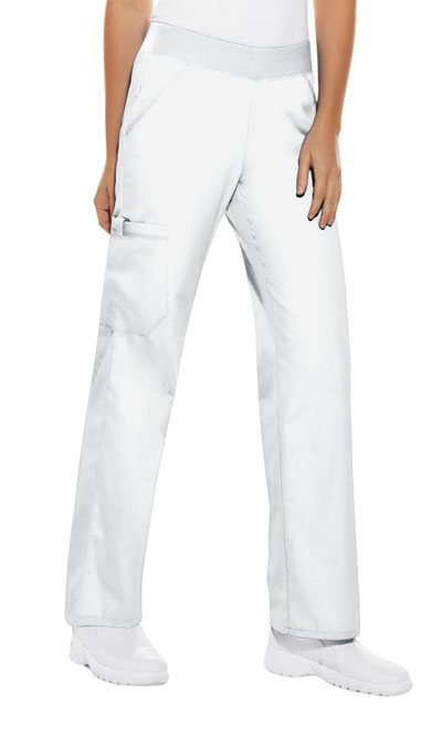32a36da38ae Flexibles Mid Rise Knit Waist Pull-On Pant in White 2085P-WHTS from ...