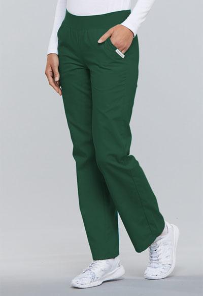 3c5eab3860d Photograph of Flexibles Women's Mid Rise Knit Waist Pull-On Pant Green 2085 -HNTB
