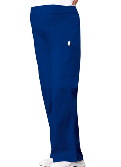 Cherokee Flexibles Women\'s Maternity Knit Waist Pull-On Pant Blue