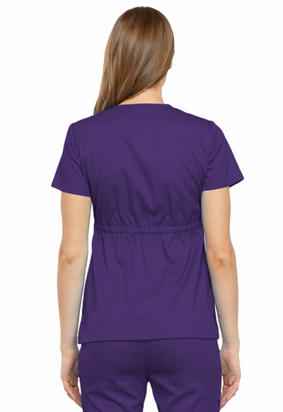 e4d44ae9451 Photograph of Luxe Women's Empire Waist Mock Wrap Top Purple 21701-GRPV