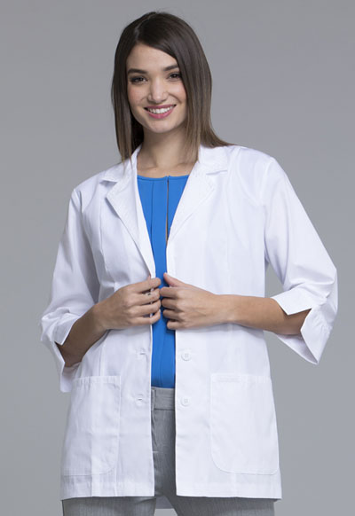 "White Cherokee Scrubs Professional Whites 3//4 Sleeve 29/""  Lab Coat 2330 WHTD"