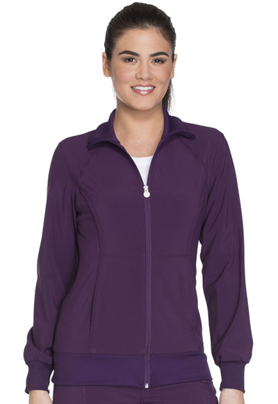 Infinity Women Zip Front Jacket Purple