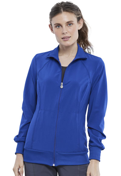 Infinity Women Zip Front Jacket Blue