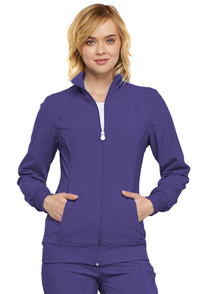 Infinity Women's Zip Front Warm-Up Jacket Purple