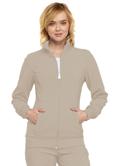 Infinity Women's Zip Front Warm-Up Jacket Khaki