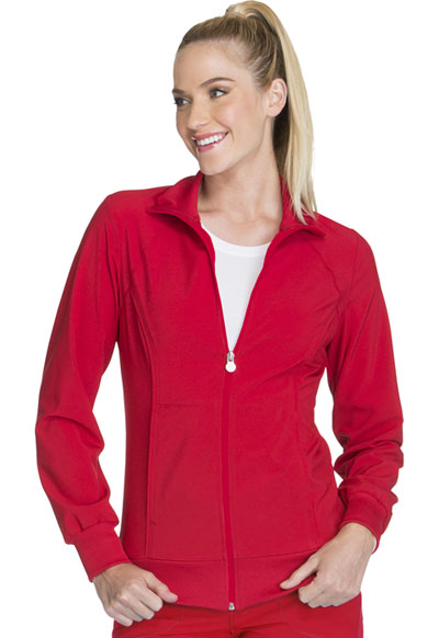 Infinity Women's Zip Front Warm-Up Jacket Red