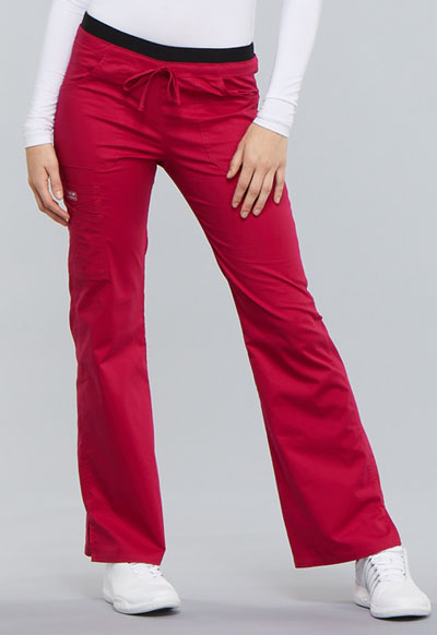 WW Core Stretch Women Low Rise Drawstring Cargo Pant Red