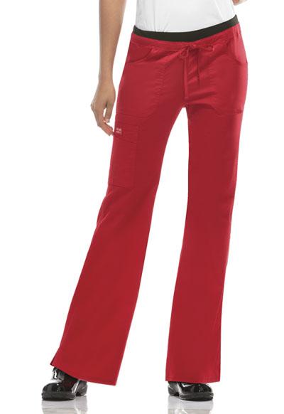 Scrubs Cherokee Workwear Petite Low Rise Drawstring Cargo Pant 24001P REDW Red