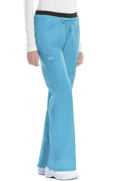 WW Core Stretch Women's Low Rise Drawstring Cargo Pant Blue