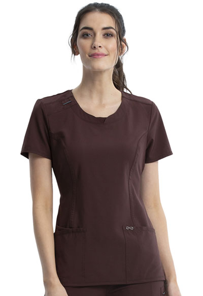 Infinity Women's Round Neck Top Brown