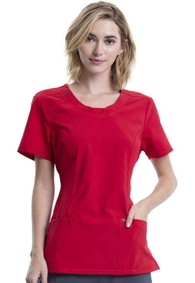 Infinity Women Round Neck Top Red