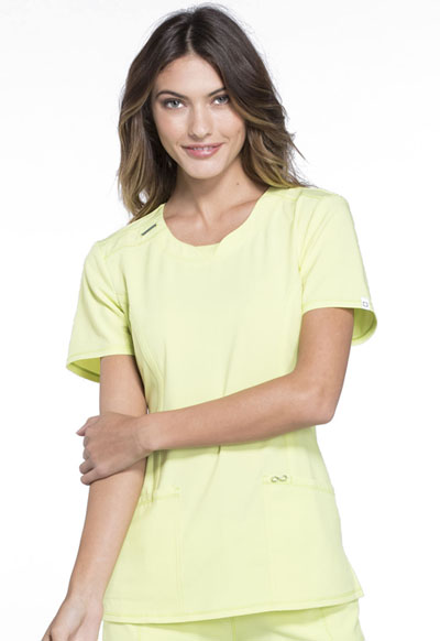 Infinity by Cherokee Women's Round Neck Top Green