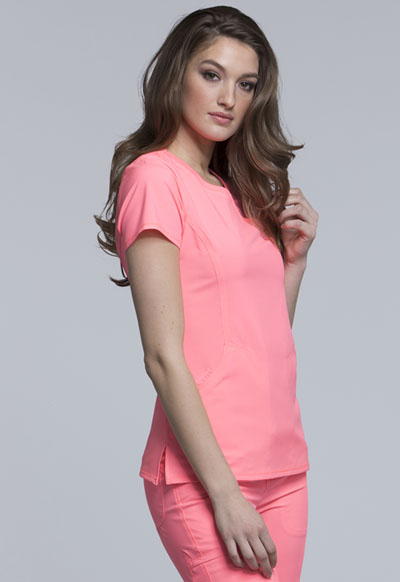 e7f4a77170e Infinity Mock Wrap Top in Coral Craze 2625A-COCR from Kodex Medical ...