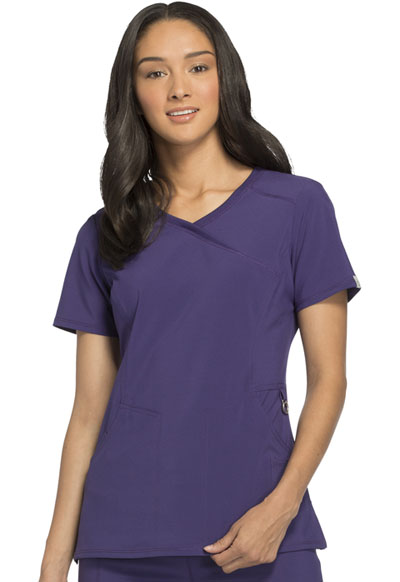 Infinity Women Mock Wrap Top Purple