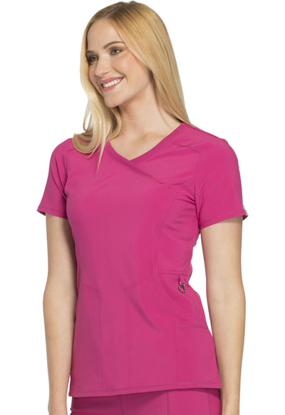 bc97cb0bede Infinity Mock Wrap Top in Power Berry 2625A-POBR from Scrubs 4 Less