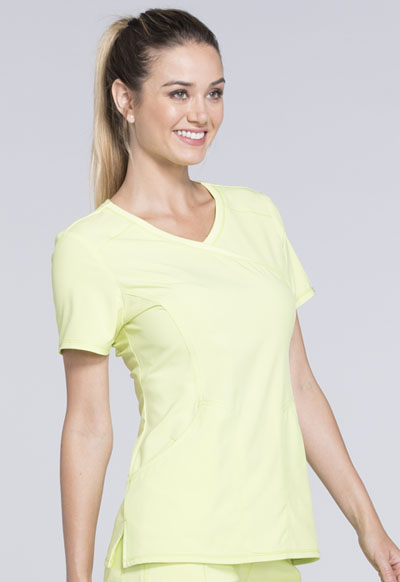 ad051b0001a Infinity Mock Wrap Top in Sunny Day 2625A-SUDA from Lynns Uniforms