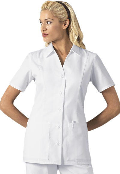 Cherokee Whites Women\'s Button Front Top White