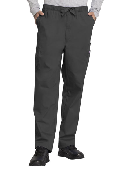 Cherokee Workwear WW Originals Men's Men's Drawstring Cargo Pant Gray