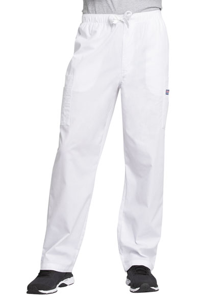 Cherokee Workwear WW Originals Men's Men's Drawstring Cargo Pant White
