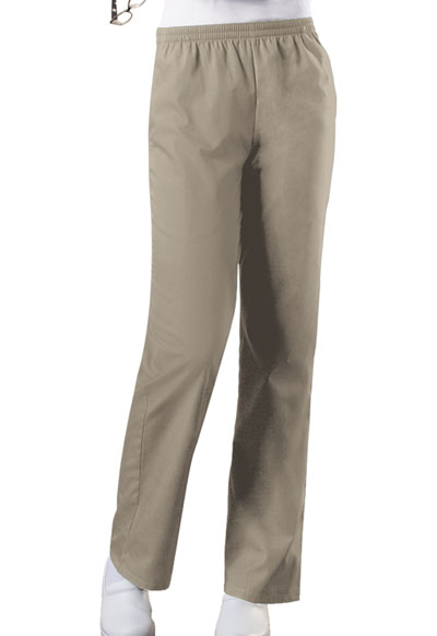 Cherokee Workwear WW Originals Women's Natural Rise Tapered Leg Pull-On Pant Khaki