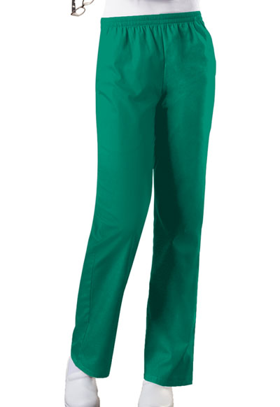 Cherokee Workwear WW Originals Women's Natural Rise Tapered Leg Pull-On Pant Green