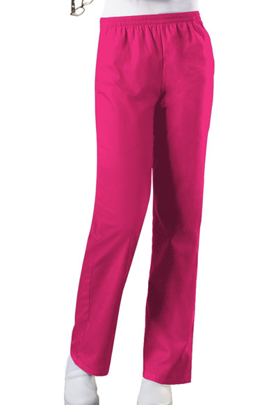 Cherokee Workwear WW Originals Women's Natural Rise Tapered Leg Pull-On Pant Pink