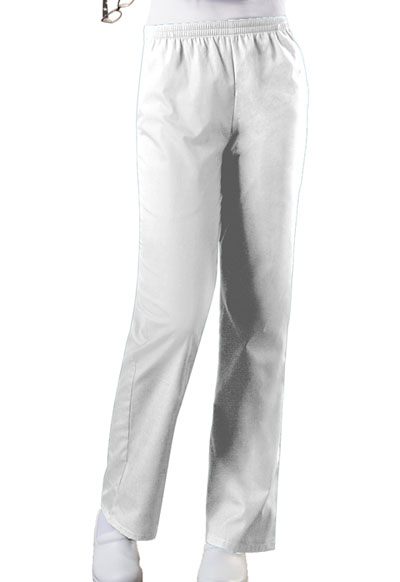 WW Originals Women's Natural Rise Tapered Leg Pull-On Pant White