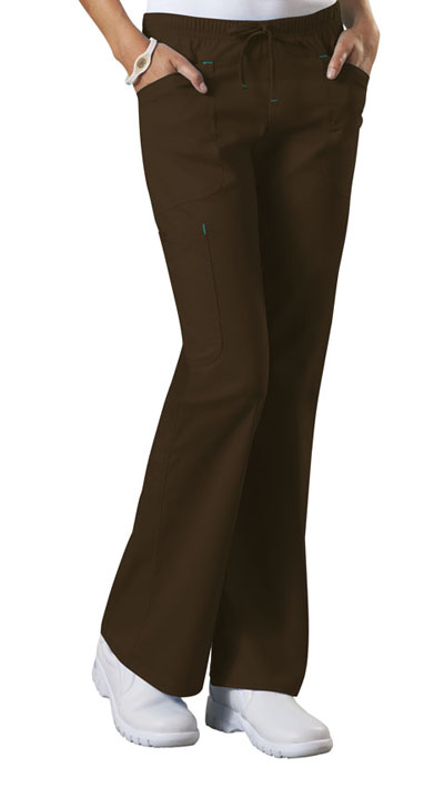 WW Core Stretch Women's Mid Rise Drawstring Cargo Pant Brown