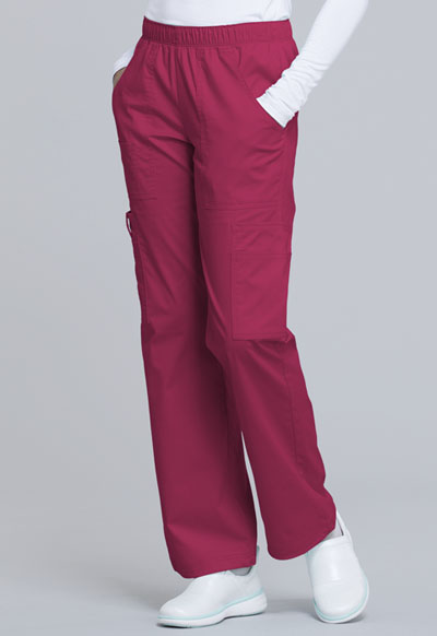 e6057e91f29 WW Core Stretch Mid Rise Pull-On Pant Cargo Pant in Cerise 4005P ...
