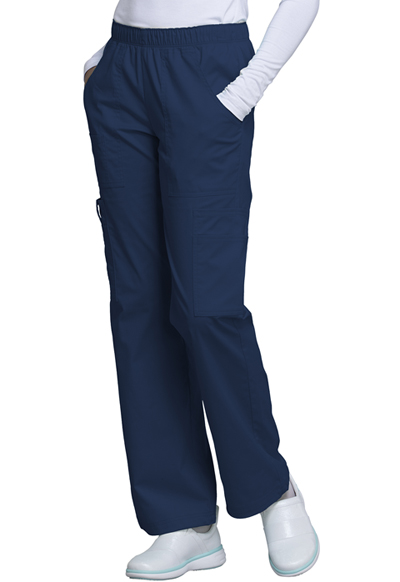 WW Core Stretch Women's Mid Rise Pull-On Pant Cargo Pant Blue